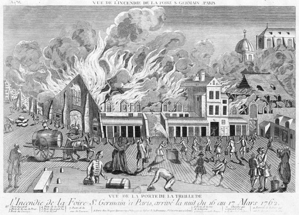 Fire at Saint-Germain fair in 1762