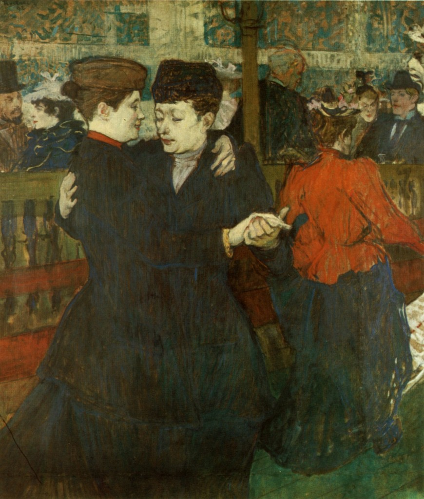 Toulouse-Lautrec two women dancing