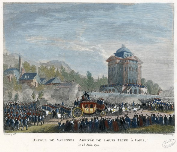 The return of the royal family to Paris after Varennes